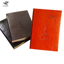 Cheng Jia 2017 New Eiffel Tower Travelers Notebook A5 Leather Embossed Dairy Planner Office Stationery Journal