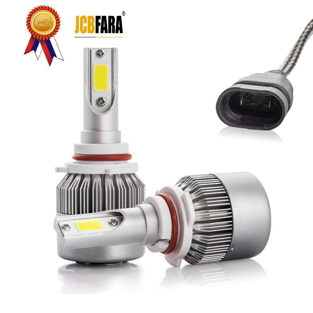 H4 LED Car Light Spot H7 H11 H1 9005 9006 Universal 8000LM COB Car Light LED Lamp 2 Side Light Waterproof Golden Car HeadLight