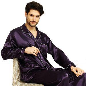 Image 5 - Pijama de satén de seda para hombre, conjunto de pijama, ropa de dormir, ropa de descanso S,M,L,XL,XXL,XXXL,4XL de talla grande _ grande y alto