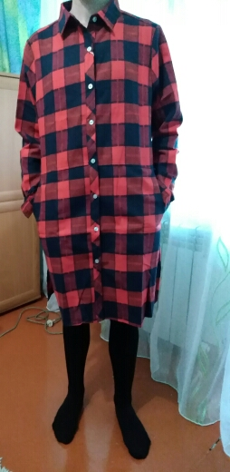 Autumn Women Long Shirt Girlfriend Style Cotton Casual Long Sleeve Red Flannel Plaid Shirt Blouses Female Tops Blusas photo review