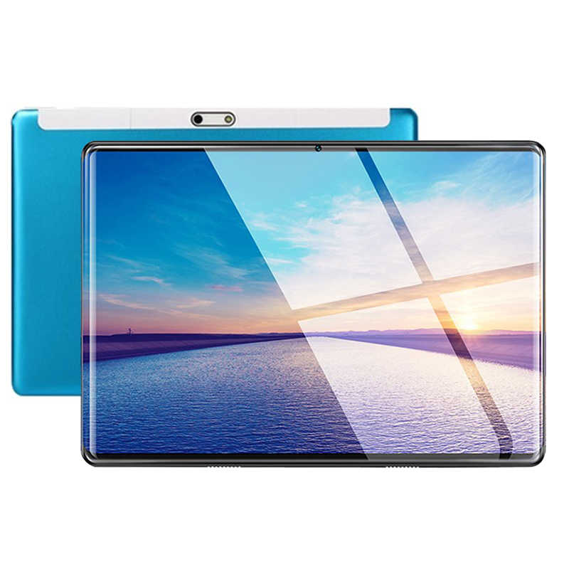 Biru CP7 2.5D IPS Tablet PC 3G Android 9.0 Octa Inti Google Bermain Tablet 6GB RAM GB ROM WIFI GPS 10 Tablet Steel