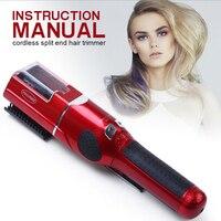 Разделение кончики волос Триммер Профессиональный строительный пистолет поврежденный сухой Разделение конец Remover триммер для женщин Clipper ...