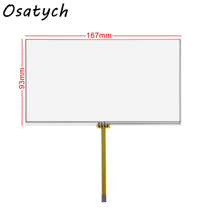 167*93mm 4 Wire Resistive 6.95Inch 7inch Touch Screen Panel Digitizer For TM070RDH01 Display Size 160*85mm 167mm*93mm 93*167mm