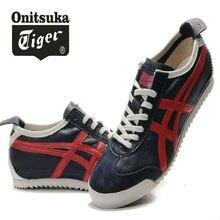 ONITSUKA TIGER MEXICO 66 Clássicos da pele de carneiro Sapatos Homens e  Mulheres Tênis Badminton Shoes f216f1d76c0cb