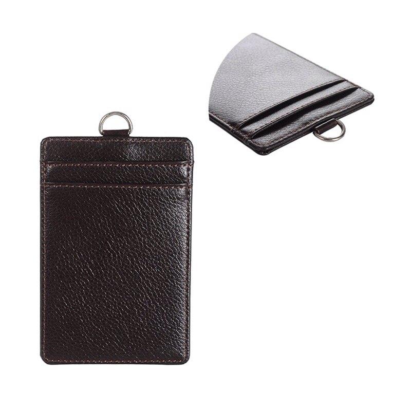 2019 NIEUW Unisex Echte lederen intrekbare id-badgehouder Reel Koe lederen badgehouder Bank Creditcardhouder Case Office photo review