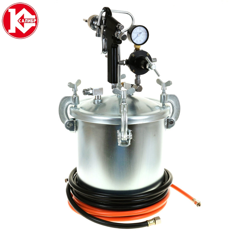 Kalibr KB-10 The water in water multicolor paint spray gun Latex paint Spray gun freedom of expression pressure tanks Paint gun carbon steel alloy variable pump water air pressure sensor silver black dc 5v