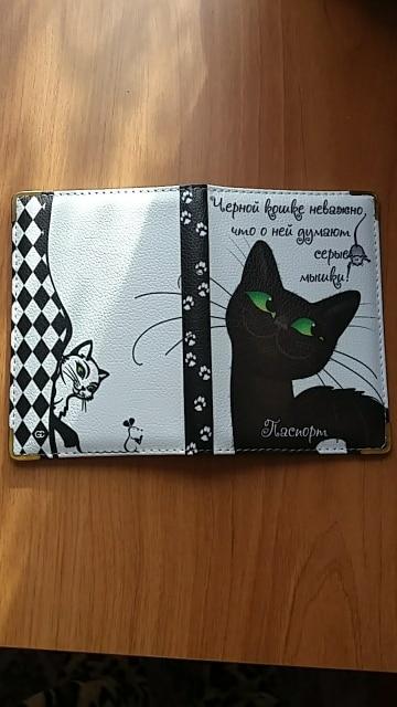 Etaofun high quality cartoon cat passport card holder, 2019 famous brand new arrivals passport cover, women travel passport case photo review