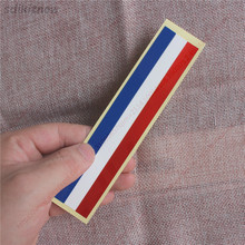 15cm faixa de carro universal adesivo frança holanda nação bandeira decalques estilo para peugeot citroen renault bugatti ds dacia
