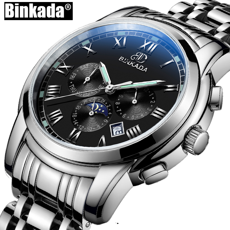 Mens Watches Automatic Mechanical Watch Clock Steel Casual Business Wristwatch Top relojes hombre BINKADA Sport Watches binger mens automatic mechanical watches top brand luxury watches men steel watches male business wristwatch relojes hombre 2017