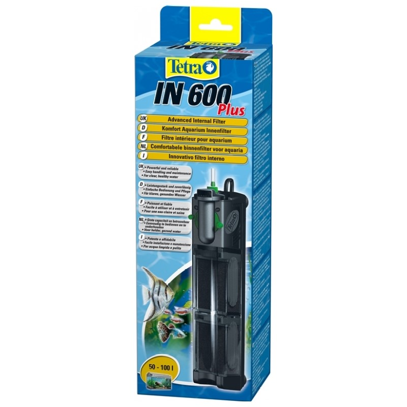 Internal filter for aquariums Tetra IN 600 Plus for aquariums up to 100 liters natural reef aquariums