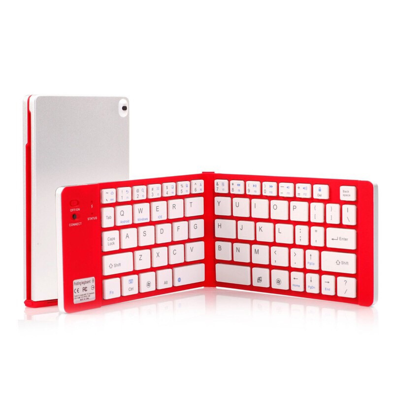basix keyboard mini wireless keyboard 2.4G Wireless Bluetooth Keypad folding keypad for Windows, Android, IOS PC computer