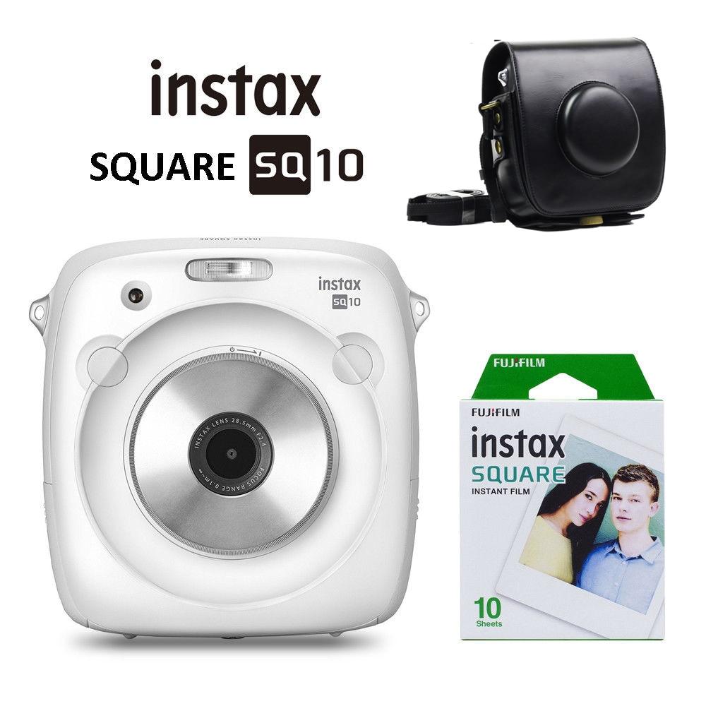New White Fujifilm Instax SQUARE SQ10 Hybrid Instant Film