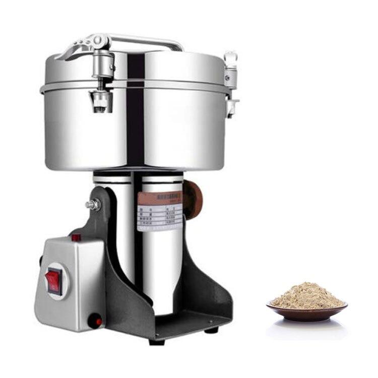 Ad alta capacità 4500g multifunzionale industriale spice grinder pepper chili medicina elettrico per uso professionale macchina per la frantumazione