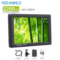FEELWORLD FW279 7 Inch 2200nit Daylight Viewable Camera Field Monitor 4K HDMI Input Output 1920X1200 IPS Panel