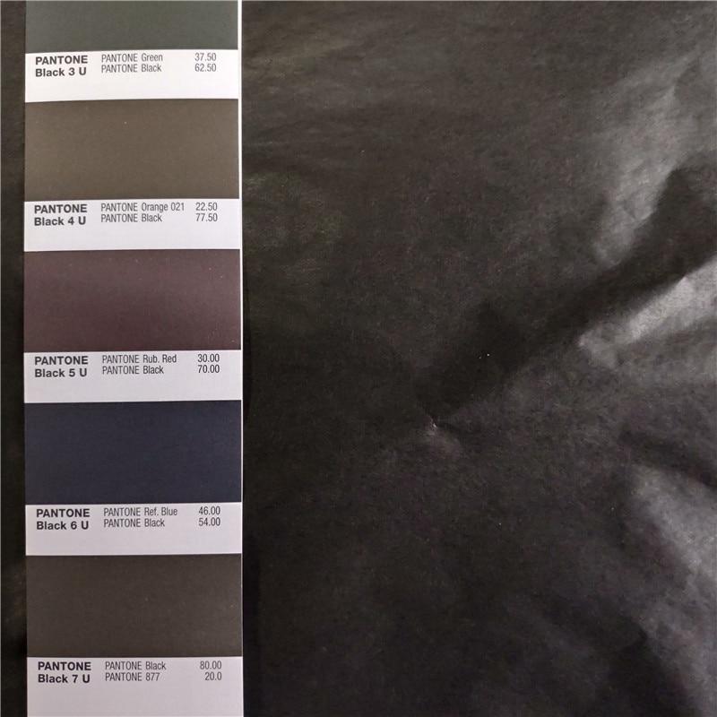 250 매 블랙 컬러 얇은 선물 포장 티슈 실크 종이 50x70 cm 무료 배송-에서공예지부터 홈 & 가든 의  그룹 1