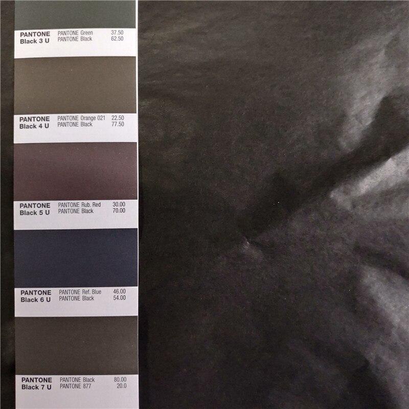 250 arkuszy czarny kolor cienkie do pakowania prezentów tkanki papier jedwabny 50x70 cm darmowa wysyłka w Papier do rękodzieła od Dom i ogród na  Grupa 1
