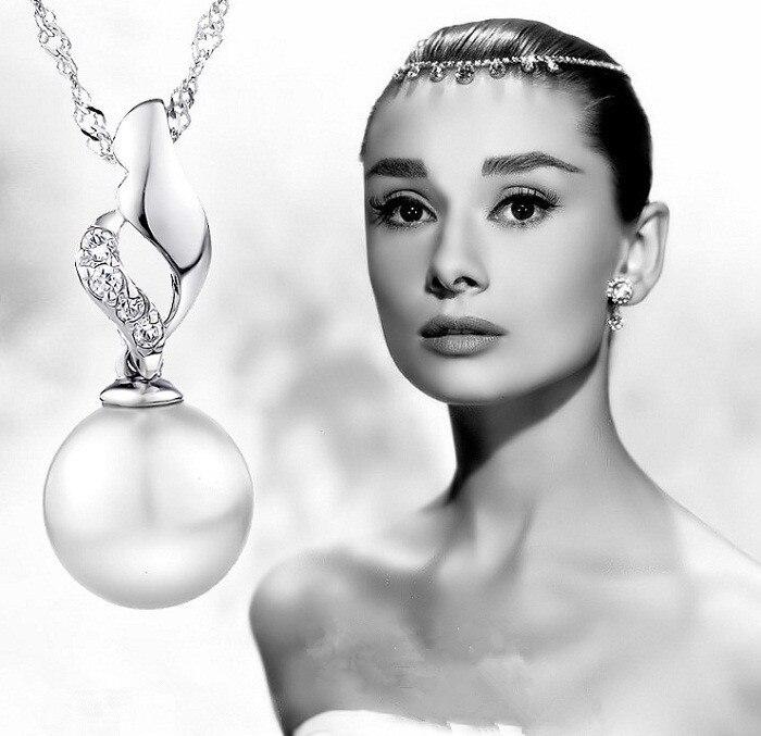 3c3338092cb Uloveido имитация ювелирные изделия перлы серебряные подвески подвески и  тот же стиль синий камень ожерелье colgantes mujer 15% off sy5644