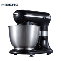 Food planetary mixer HIBERG MP 1255 B Kitchen Food Stand Mixer Cream Egg Whisk Blender Cake Dough Bread Mixer Maker Machine