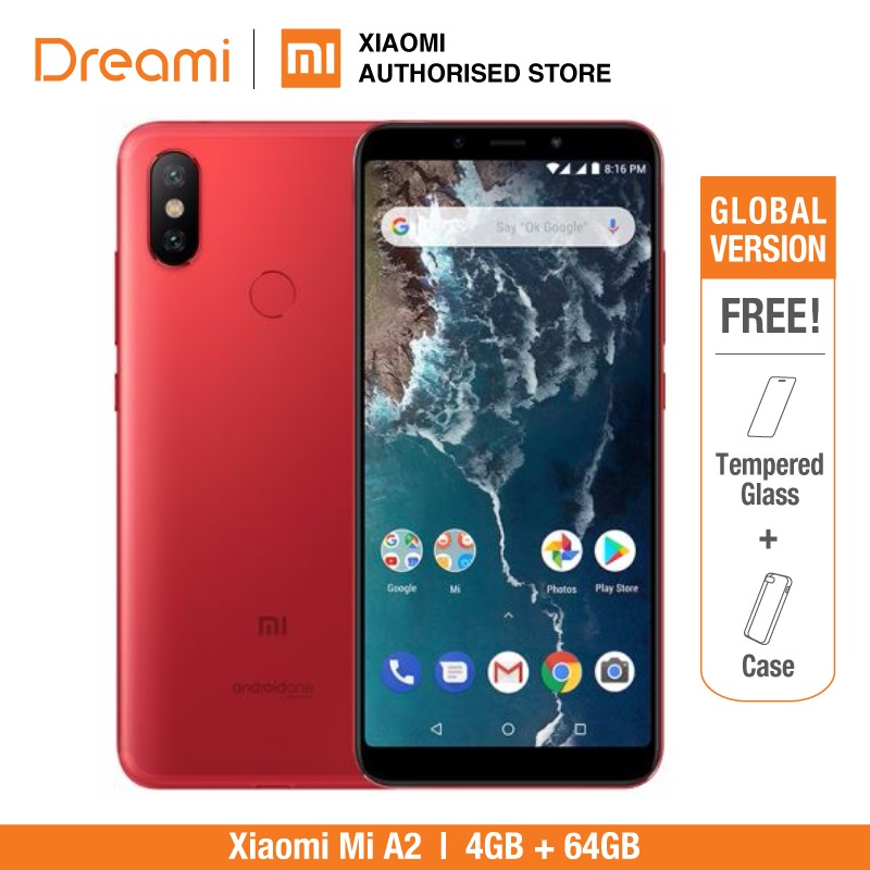 Global Version Xiaomi Mi A2 64GB ROM 4GB RAM  (Brand New and Sealed) mia2 64gb-in Cellphones from Cellphones & Telecommunications