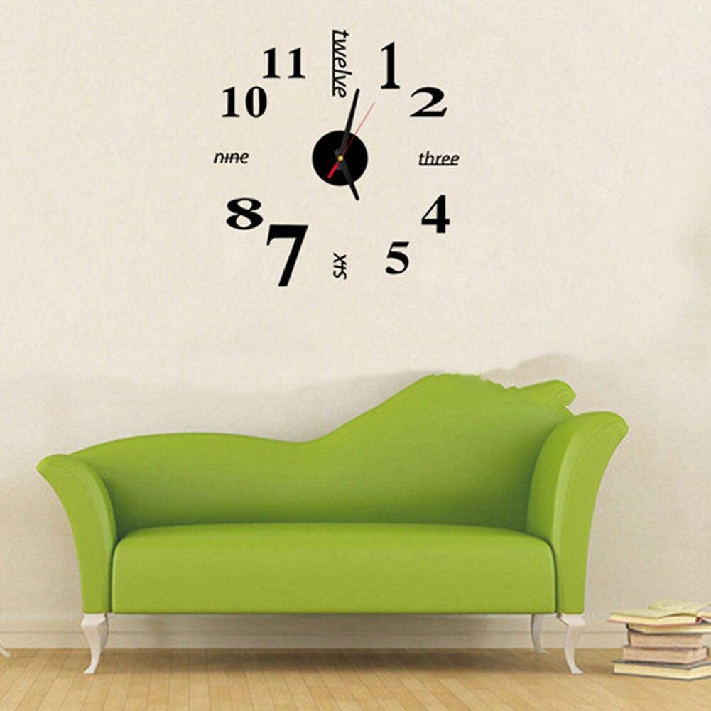 relojes de pared grandes relojes de cuarzo relojes rushed real en d de gran reloj de