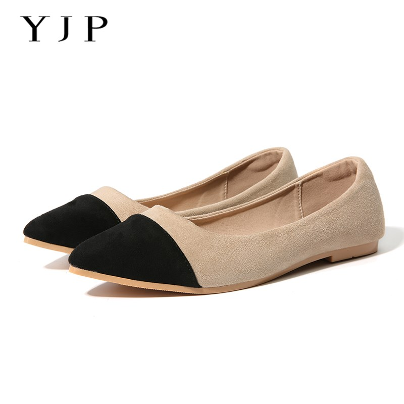 Black Pointed Flat Shoes Ballet