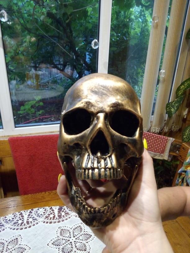 Estátuas e esculturas Crânio Bronze Artesanato