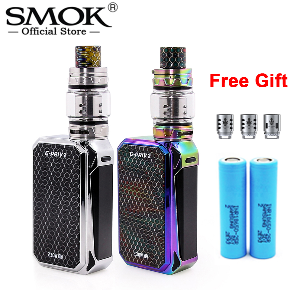 Original SMOK G PRIV 2 Luxe Edition 230W Touch Screen Mod 8ml TFV12 Prince Tank Electronic
