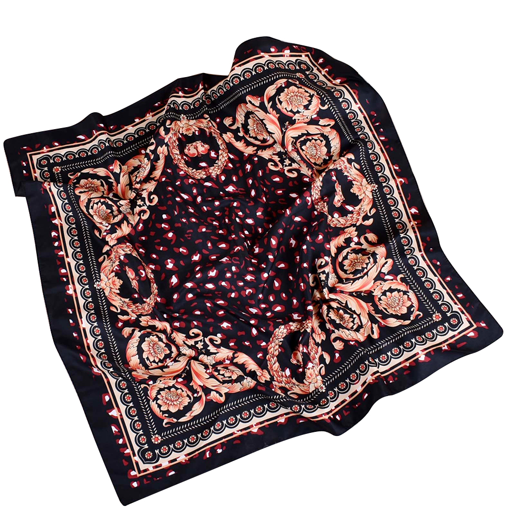 70x70cm Fashion Women Square   Scarf   Floral Print   Wrap   Head Shawl Birthday Gift
