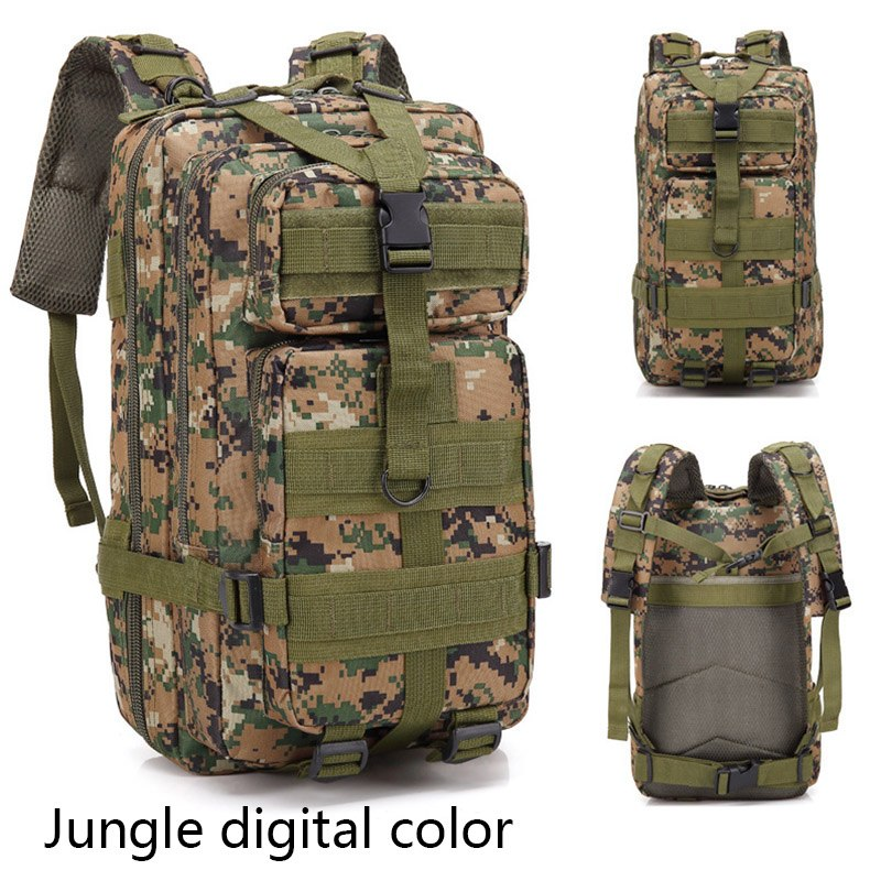 Camouflage Tactical Bag Military Hunting Assault Pack Sling Backpack Outdoor Bags Trekking Camping Sport Bag Army
