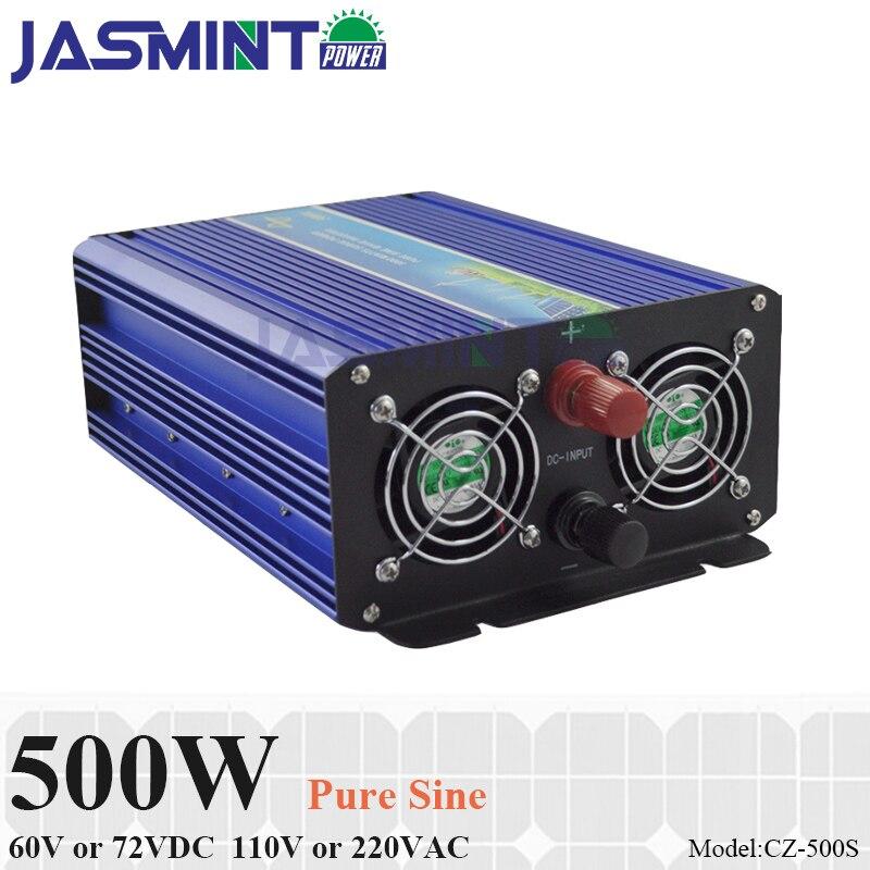 500W Off Grid Pure Sine Wave Inverter 60V 72V DC to AC 110V 220V Single Phase