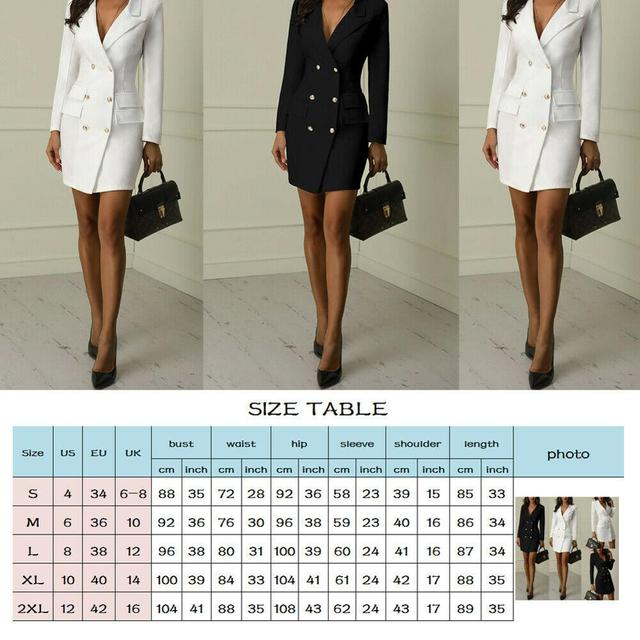 Autumn Winter Suit Blazer Women 2019 New Casual Double Breasted Pocket Women Long Jackets Elegant Long Sleeve Blazer Outerwear 1
