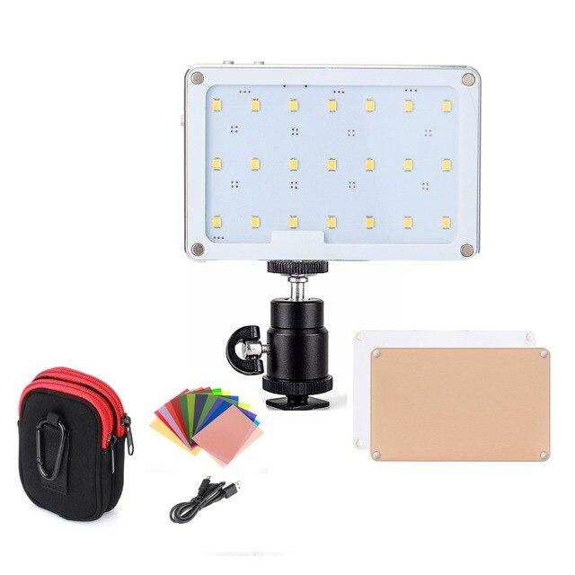 SOKANI X21 LED sur appareil photo lumière vidéo de poche taille écran OLED construire en 1600mAh batterie pour Sony Nikon Canon VS Aputure AL M9