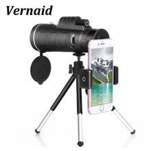 High Quality Monocular 40X60 for Mobile Phone Camera with Universal Phone Clip celestron Telescope Optic Lens Lll night vision
