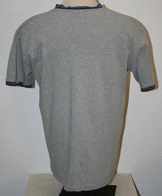 "DISNEY Mickey Mouse T-Shirt XL Gray V-Neck Chest 48"" S/S Shirt Mens"