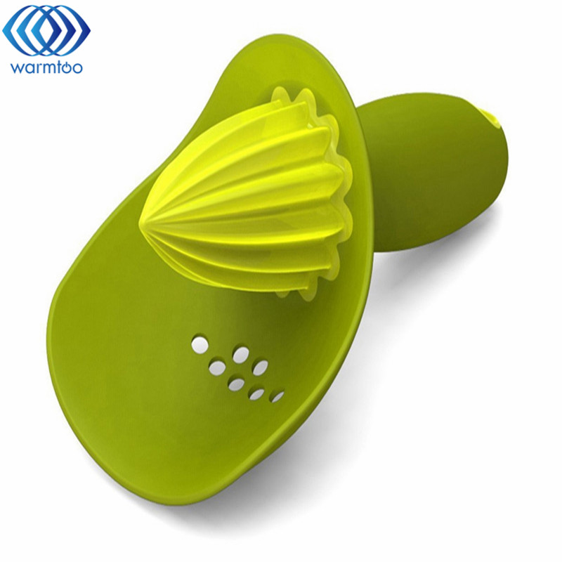 Home Orange Lemon Fruit Juicer Tool Plastic Convenient Hand Manual Squeezer Citrus Juicer Kitchen Cooking Tools fruit orange lemon opener peeler zester citrus fruit skin remover finger type
