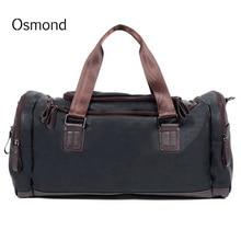 Osmond PU Leather Men s Travel Bags Luggage Bags For Men Large Capacity  Duffle Bag Vintage Handbag fe4df700a3