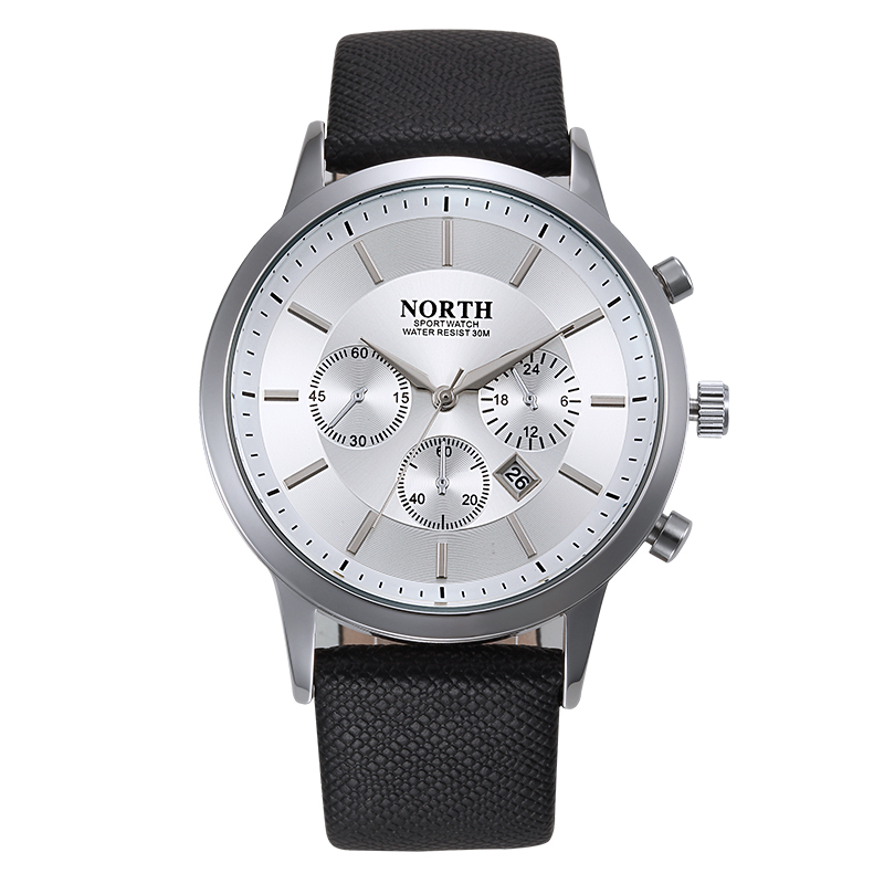 NORTH Fashion Men Famous Brand Quartz Watch Waterproof Casual  Watch Sports Wristwatch Hours Clock Gift2017 new arrival 2015 brand quartz men casual watches v6 wristwatch stainless steel clock fashion hours affordable gift
