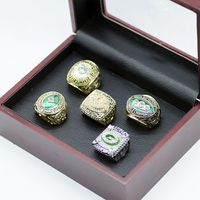 Dropping Shipping 5PCS SET 1965 1966 1967 1996 2010 GREEN BAY Rings Championship Ring Set