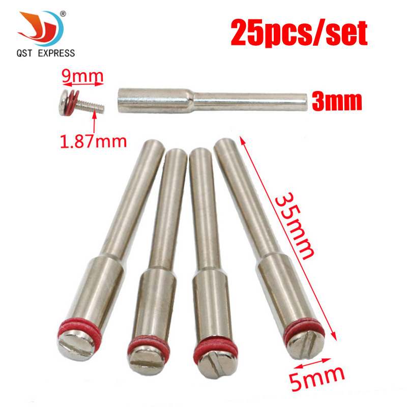 25pcs Rotary Mandrel Dremel Accessory For Dremel Rotary Tools Suit For Reinforced Cut-Off Disc Connecting Shank