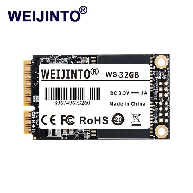 WEIJINTO mSATA SSD DA 120 GB 240 GB 64 GB 128 GB 256 GB 480 GB Mini SATA Interno Solido StateHard drive 32 GB 16 GB Per Il Computer Portatile Del Server