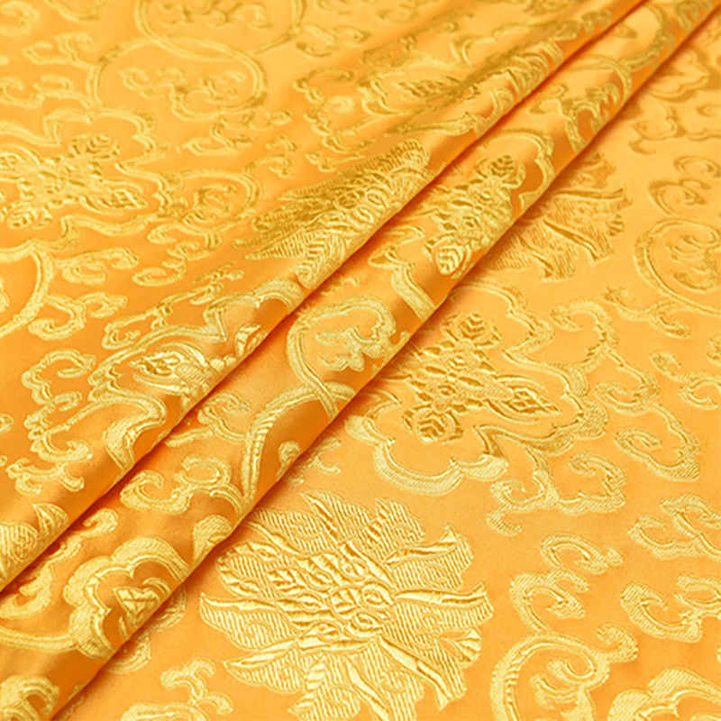 new arrival brocade yarn dyed yellow flower fabric for patchwork tissue telas bed sheet dress children cloth felt 100x150cm