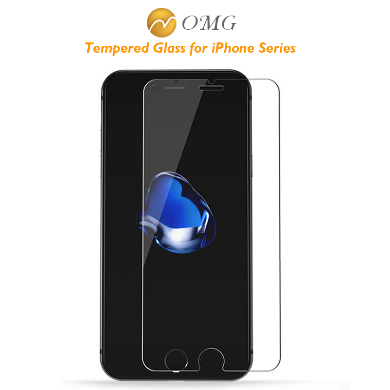 OMG 9H tempered glass For font b iphone b font 5s 5 4s 5c SE 6
