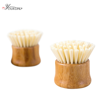 OYOURLIFE Kitchen Creative Bamboo Handle Cleaning Brush Scourer Pan Dish Bowl Pot Brush Household Kitchen Cleaning Tools 4