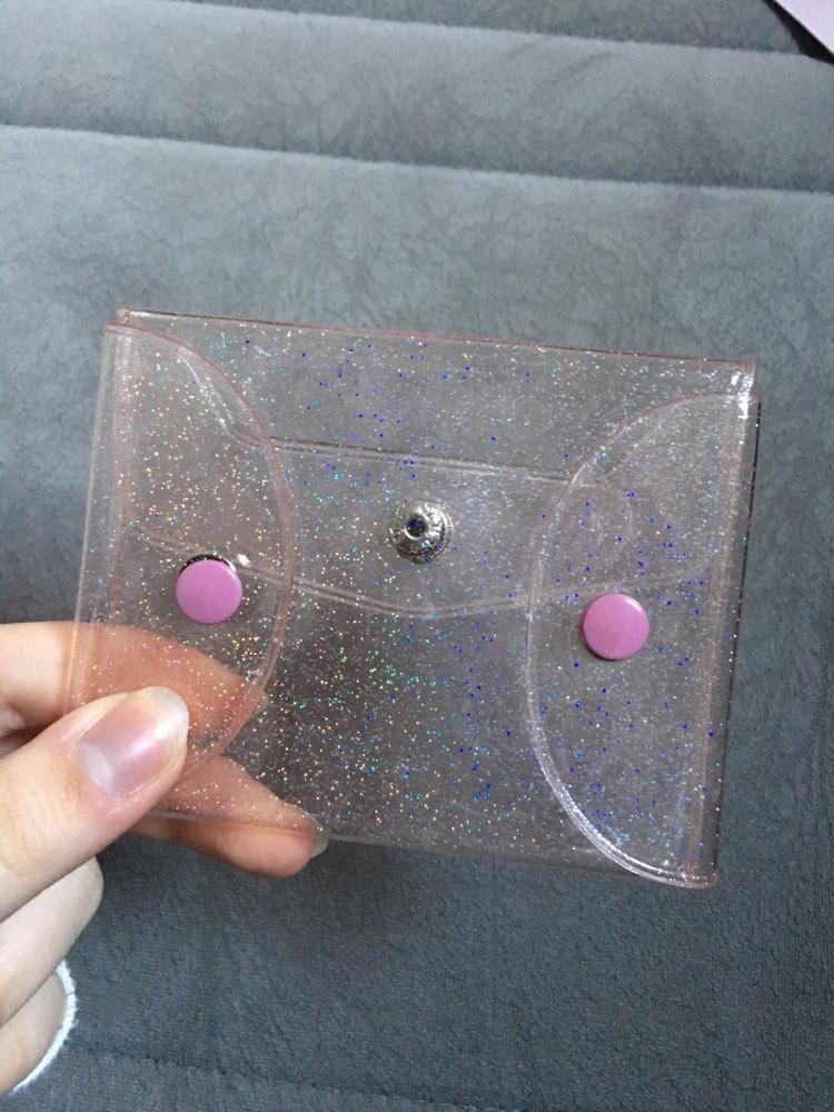 UOSC Nieuwe Transparante Laser Portemonnees Vrouwen Portefeuilles Leuke Kawaii Kaarthouder Sleutel Geld Tassen Voor Meisjes Dames Portemonnee Mode Pouch photo review