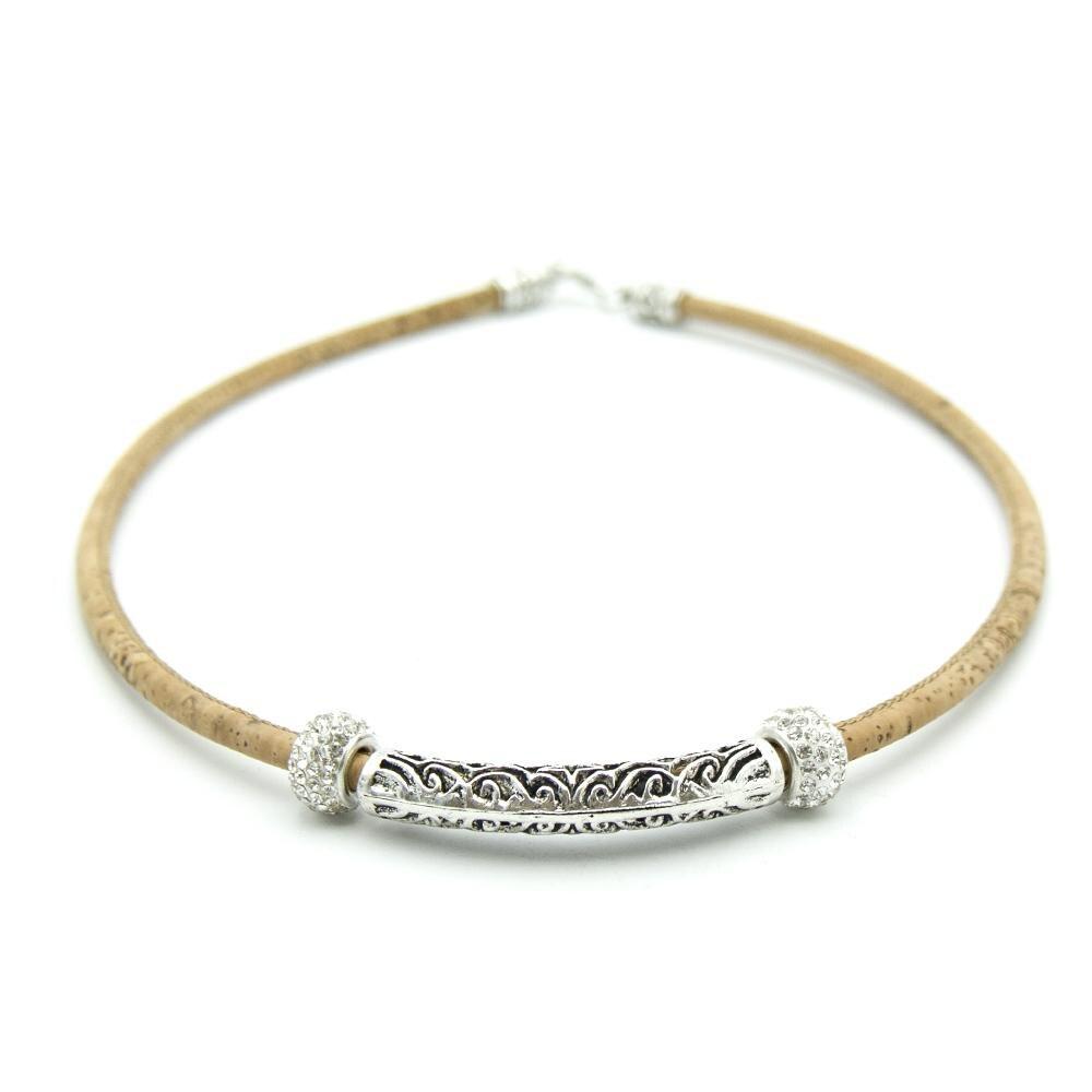 Cork Jewelry: Cork Jewelry Cork Necklaces Natural Cork With Rhinestone