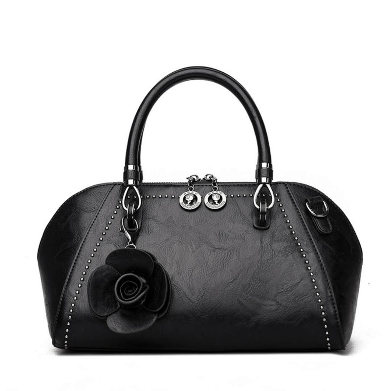 Women Genuine Leather Bags Real leather Handbag Brand Casual Flowers Tote Shoulder bag Designer Fashion Bag new luxurious cow leather women bag brand fashion ladies shoulder bags handbag tassel genuine leather casual tote crossbody bag