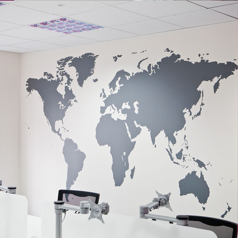 Poster Letter World Map Quote Removable Vinyl Art Decals Mural Living Room  Office Decoration Wall Stickers Home Decor In Wall Stickers From Home U0026  Garden On ... Part 60