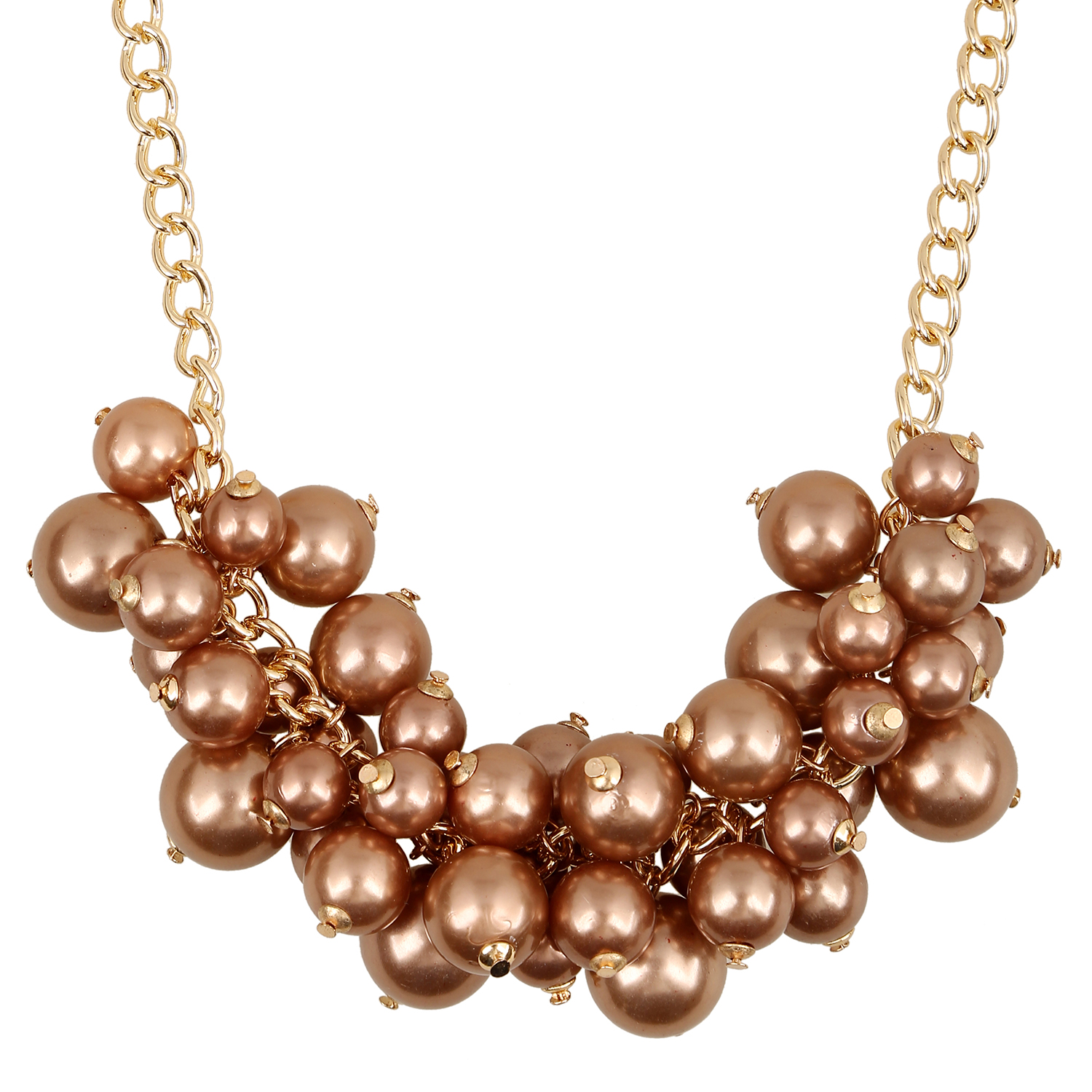 Lureme Europe Style Brown Resin Imitation Pearls Statement Necklaces For  Women Maxi Necklace Wholesale (01003930