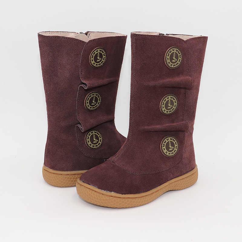 Kids Schoenen Minimalistische Laarzen Kinderen Sneeuw Barefoot Schoenen Mode Herfst en Winter 2019 Kinderen van Leer Sneakers