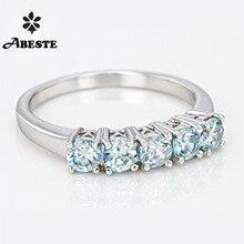 ANI 18K White Gold (AU750) Women Wedding Band Ring Natural B